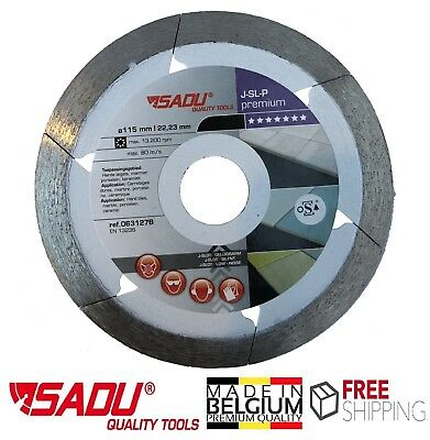 Porcelain Tile Cutting Diamond Blade Disc Thin Turbo 115mm, 4.5in Angle Grinder