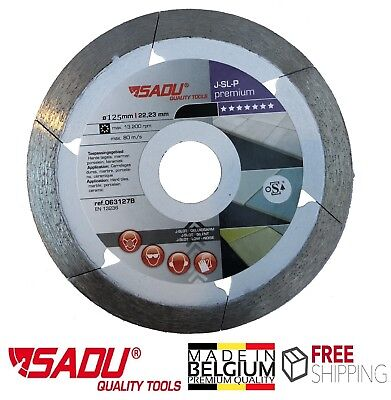 "Porcelain Tile Cutting Diamond Blade Disc Thin Turbo 125mm 4.9"" Angle Grinder"