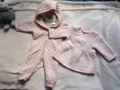Country Road Baby Clothing Sz 000 Quilted Romper Dress bundle lots 0-3month