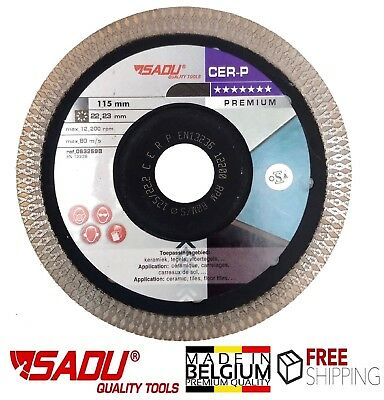 "Porcelain Tile Cutting Diamond Blade Disc Thin Turbo 115mm 4.5"" Angle Grinder"