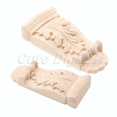 1pc Exquisite Rubber Wood Woodcarving Corbels Decal Furniture Cabinet Applique