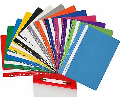 13 Colours A4 Perforated Presentation Project File Hard Clear Document Holder