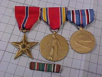 Lot Of 3 Original Wwii Us Military Medals