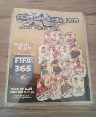 Panini Fifa 365 Adrenalyn Xl 2018 Metal Cards Empty Album Binder