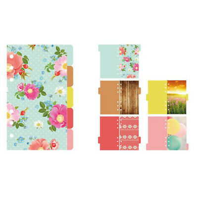 5 Pcs A5 6-Ring Binder/Planner Index Dividers Pages with Tab for Notebook