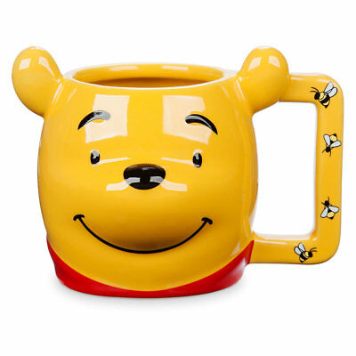 Disney Store Winnie the Pooh Figural Mug Handle Bees Smiling Face New