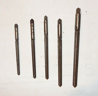 Vintage Lot of 5 Tapered Hand Reamers Handy No.1-5