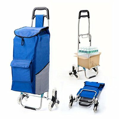 Upgraded Folding Shopping Cart Stair Climbing Cart Waterproof Grocery Laundry...