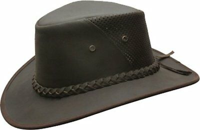 41f7c7f3d59 NEW CONNER HATS Men s Down Under Leather Breezer Hat