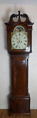 Georgian Mahogany Eight Day Longcase Grandfather Clock