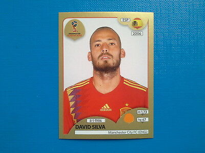 Figurine Panini World Cup Russia 2018 Gold n.147 David Silva Spain
