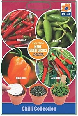 8cm Seed Discs - Chilli Collection - 4 per pack contains Cayenne, Jalepeno, Anah