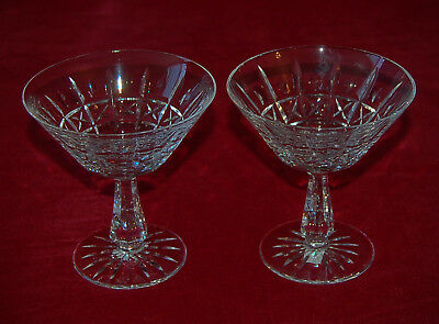 "WATERFORD Crystal KYLEMORE  2 SHERBET CHAMPAGNE GLASSES 4 3/4"" Made In Ireland!"
