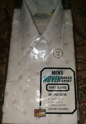 Vintage 70s 80s Kmart Woven Dress Shirt Permanent press sealed Disco