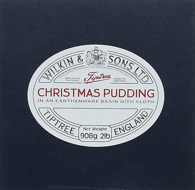 Wilkin & Sons Ltd Large 2lb 908g Tiptree Christmas Pudding. In an Earthenware