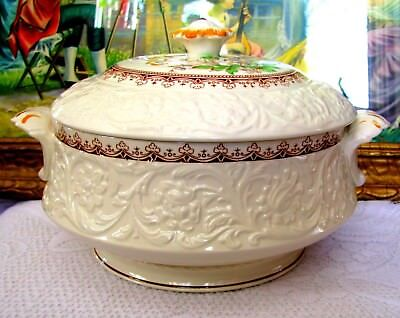 Booths Wild Rose Covered Vegetable Bowl Tureen Serving Dish With Lid England