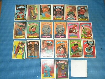 Lot of 20 Series 9 1987 Topps Chewing Gum Inc Garbage Pail Kids Cards O11