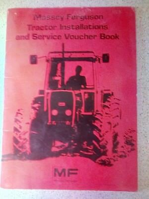 Massey Ferguson Tractor Installations And Service Book Literature Data