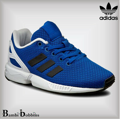 8cba41c4be18a Adidas Baby Boys ZX Flux Child Blue Textile Trainers UK Infant Size 3 4 5