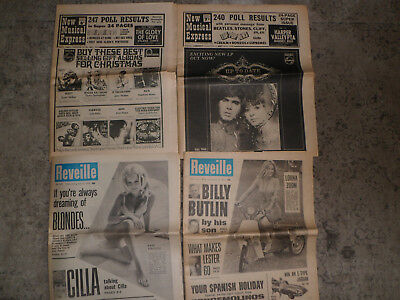 Reveille and new musical express newspaper/magazine ~ 1967,1968 and 1970
