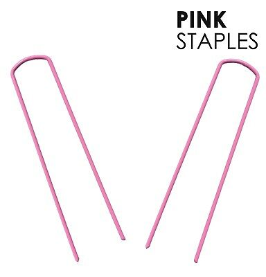 PINK COLORED Landscape Staples ~SOD Staples Landscape Fabric Pins by Sandbaggy
