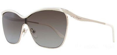 16ee081501 Salvatore Ferragamo Sunglasses SF148S 721 Ivory Gold Frames Gray Lens 58MM