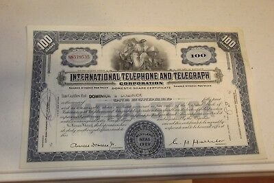 Lot of 10 Different Stock Certificates  Beautiful Engraved Vintage 1950 - 1979