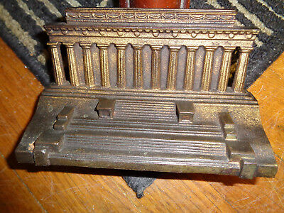 vintage cast iron Lincoln Memorial door stop