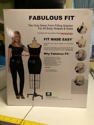 Dress Form System L Fits Body Shapes Size L 14-18 Soft Pads Life-Like Touch