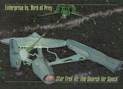 1993 Skybox Star Trek Master Series Spectra card S-4 Enterprise v Bird  NR-MINT
