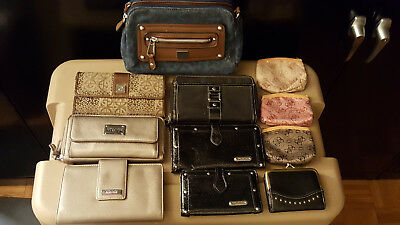 Mixed Lot Of 11 Women's Name Brand & Unbranded Purses & Wallets