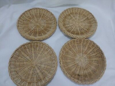 Lot 4 Random Wicker Rattan Bamboo Paper Plate Holders Barbeque Cookout Dinner #1 & LOT 4 Vintage Wicker Rattan Bamboo Paper Plate Holders Barbeque ...