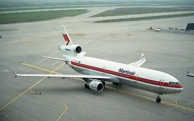 "MARTINAIR AIRLINES McDONNELL DOUGLAS MD-11 "" PH-MCP""   8"" X 12"" COLOR PHOTO"