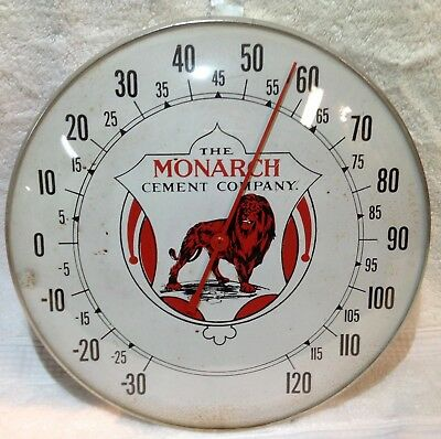 """Vintage """"The Monarch Cement Company"""" Thermometer"""