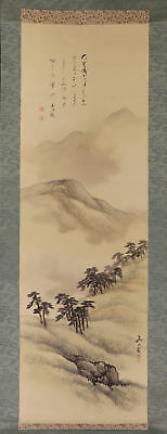JAPANESE HANGING SCROLL ART Painting Scenery Asian antique  #E1701