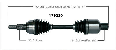 CV Axle Shaft-New Front Right WorldParts 179230