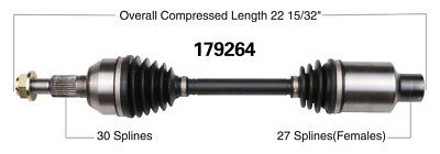 CV Axle Shaft-New Front Right WorldParts 179264