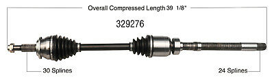 CV Axle Shaft-New Front Right WorldParts 329276