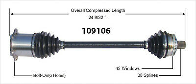 CV Axle Shaft-New Front Right WorldParts 109106