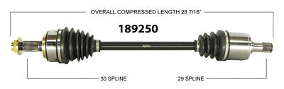 CV Axle Shaft-New Front Left WorldParts 189250