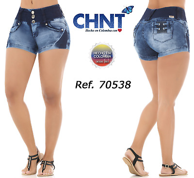 CHNT Short Jeans Colombianos, Authentic Colombian Push Up Short, Levanta Cola