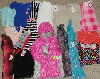 NWT Girls Size 10 12 SPRING SUMMER Lot Clothes & Outfits COAT Dress pants skirt