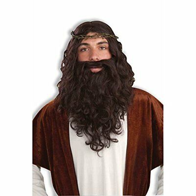 Biblical Jesus Wig and Beard - Adult Christmas / Nativity / Religious Accessory