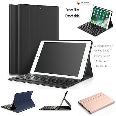 "For iPad 6th Gen 9.7"" 2018 /5th Gen 9.7"" 2017 Case Cover with Bluetooth Keyboard"