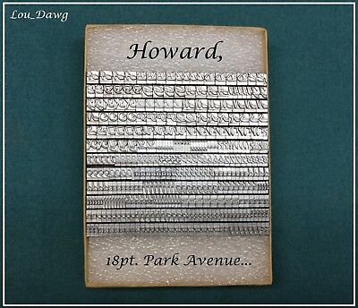 Howard Machine Personalizer ( 18pt. Park Avenue ) Hot Foil Stamping Machine