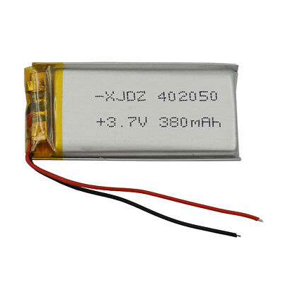 3.7V 380 mAh Polymer Li battery Li-po For bluetooth headset pen Sat nav 402050