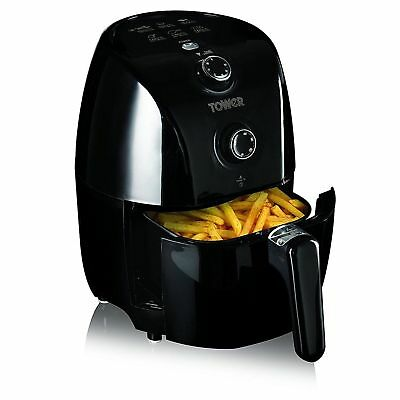 #Tower Compact Air Fryer with 30 Minute Timer, 1000 W, 1.5 Litre, Black - T17025
