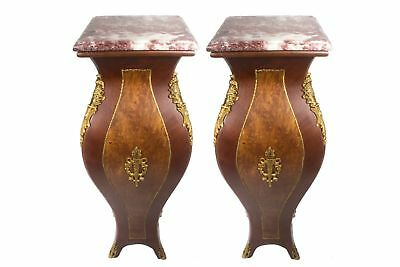 Wood Column Pedestals King Louis french Style 4 Foot Long hand made