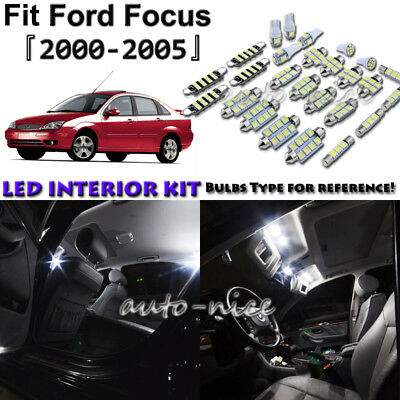 6Psc White LED Lights Interior Package kit for 2012-2014 Ford Focus+Free Tool
