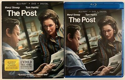 The Post Blu Ray Dvd 2 Disc Set + Slipcover Free World Wide Shipping Buy It Now